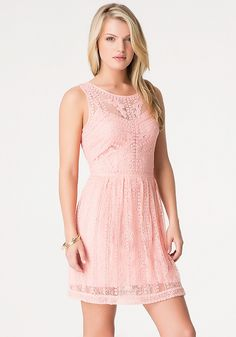 Embroidered Lace Dress - All Dresses | bebe
