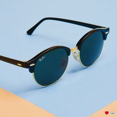 Meet the Ray-Ban Clubround. These sunglasses are the perfect blend of Clubmaster and Rounds.