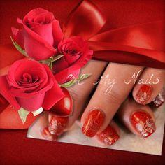 Gelish Stamped Nail Art