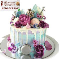 Tort de la Cofetăria Pasticceria Giuseppina Comanda direct pe WhatsApp : 0730283947 #cofetarie #mihai #mihalache Girly Birthday Cakes, Ice Cream Birthday Cake, 18th Birthday Cake, Beautiful Birthday Cakes, Birthday Cakes For Women, Beautiful Cakes, Amazing Cakes, Happy Birthday, 21st Cake