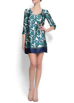 Dress with paisley print, Mango
