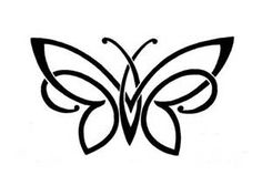 Butterfly Outline Clip Art - Bing Images