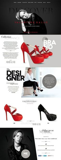 #Product #Website #Design - I like the black and white with the pop of red. It's a clean website. I like how it shows you the homepage and different pages.