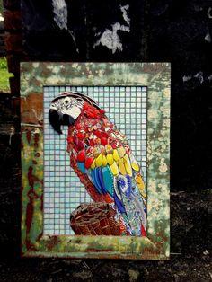 Resultado de imagem para Mosaic dog by Solange Piffer