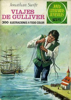 Joyas Literarias Juveniles, núm. 105. Viajes de Gulliver (Jonathan Swift). Ed. Bruguera, 1974. Portada: Antonio Bernal.