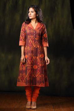 Fez Collar Kurta – The Kaithari Project Salwar Neck Designs, Churidar Designs, Kurta Neck Design, Kurta Designs Women, Dress Neck Designs, Blouse Designs, Kurtha Designs, Salwar Pattern, Kurta Patterns