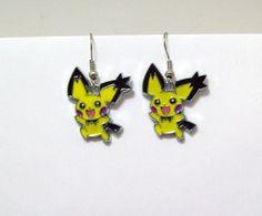 Pokemon earrings Pichu anime cartoon by Eternalelfcreations, $8.00