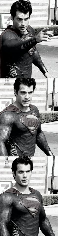 "Henry Cavill as Superman in ""The Man of Steel"" movie!"