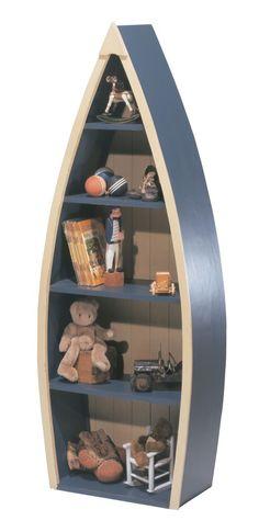 Wooden Boat Bookcase | Designer Children's Furniture| Luxury Bookshelf