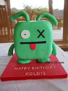 Ugly Doll cake so cute- getting ideas for CNN's 11th Birthday She so wants an Ugly Doll party.