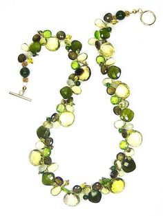Field Greens Necklace | Handmade Luxe | JulRe Designs