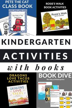 Well loved books for kindergarteners paired with book activities for kindergarten are the perfect way to build literacy skills. #kindergarten #literacyactivities #teaching #GrowingBookbyBook