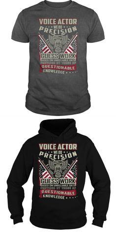Voice Actor Job Title Tshirt/Hoodie.  Guys Tee Hoodie Ladies Tee Funny Actor T-shirts Factor T Shirt Actor T Shirt G Star T Shirts Amazon