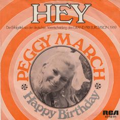 """Et glad sang i bedste 60er stil. Her synger Peggy March synger """"Hey das ist Musik für mich"""". Sangen er fra det tyske Grand Prix 1969."""