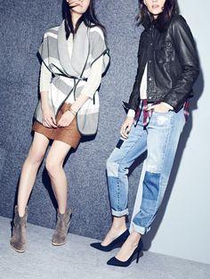 Fall fashion layering inspiration.