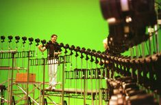 """The famous """"Bullet Time"""" sequence was originally going to be shot using fast moving dollies. However all of the dollies broke, forcing them to construct the shot digitally.  The Matrix (1999)"""