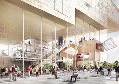 NL Architects Chosen to Design Arnhem's ArtA Center,Nieuwstraat View. Image Courtesy of NL Architects
