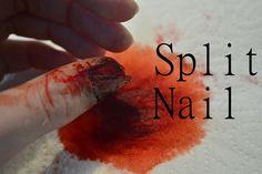 Halloween Split nail FX makeup