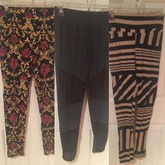 Leggings. All cute patterns! Great condition. Leggings. All for ONE price! Not selling separately! Pants Leggings