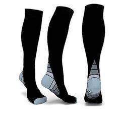 Hard-Working 1 Pair Fashion Unisex Men Women Leg Support Stretch Magic Knee High Compression Socks Fitness Varicose Cotton Socks Anti Fatigue Dependable Performance Men's Socks