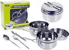 Nesting Billy Can 6 Piece Cooking Set Outdoor Travel Camping Stove Pots & Pans | http://www.cbuystore.com/page/viewProduct/10058956 | United States