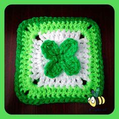 4-leaf clover granny square