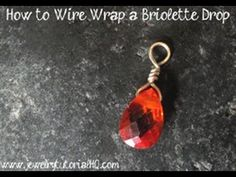 How to Wire Wrap A Briolette (simple triangle wrap tutorial) Basic jewelry making technique. Related blog post with more info and photos: http://jewelrytutorialhq.com/how-to-wire-wrap-a-briolette-jewelry-making-technique/