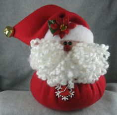 The old boy is back! Santa had a very busy 2016 but now he is back! This little guy is approximately 7 tall and 6 wide. Handmade he is dresse… Christmas Tree Background, Cool Christmas Trees, Christmas Items, Santa Christmas, Christmas Projects, Felt Christmas Decorations, Holiday Decor, Felt Snowman, Christmas Crafts