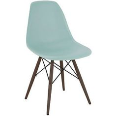 Mid-century Surfin Side Chair with Walnut Wood Base (Set of 5) $400 - will look great with oval white table