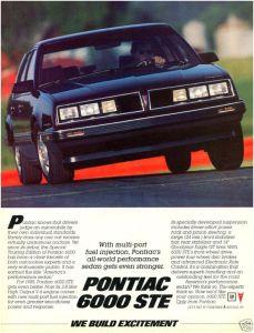 1985 Pontiac 6000 STE