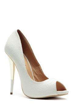 White Snake Queen Peep Toe Heels @ Cicihot Heel Shoes online store sales:Stiletto Heel Shoes,High Heel Pumps,Womens High Heel Shoes,Prom Shoes,Summer Shoes,Spring Shoes,Spool Heel,Womens Dress Shoes