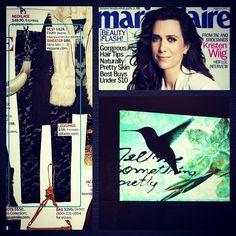 Kensie animal print leggings as featured in Marie Claire, August 2012