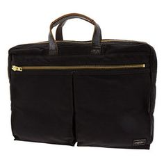 """Great masculine accents on this Porter bag from Japan. Little too big for me, at 16"""" wide."""