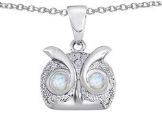 Star K Round Created Opal Good Luck Owl Pendant Necklace ** You can get more details by clicking on the image. (This is an affiliate link and I receive a commission for the sales)
