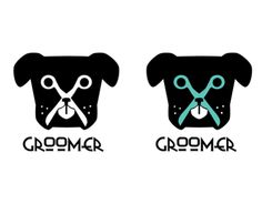 Logo design for professional Groomer.All the informations on the card are false (used only in order to show some layout text) Dog Grooming Styles, Grooming Salon, Dog Spa, Pet 1, Puppy Day, Dog Rooms, Dog Logo, Animal Logo, Animal Party
