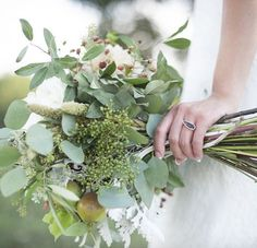 Greenery bouquet Kimberly Michelle Gibson Photography