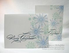"""Love this! **** SU """"Serene Snowflakes"""" & """"Hand-penned Holidays""""( would be a great winter thank you as well)"""