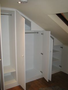 bedroom storage with slanted ceilings - Google Search More