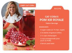 Macy's Culinary Council Chef Cat Cora's Pom Kir Royale