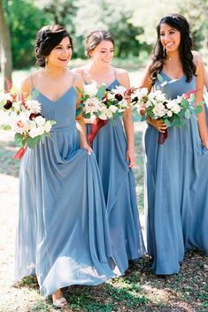 18 Blue Bridesmaid Dresses For Great Wedding ❤ blue bridesmaid dresses straight long slate sweetheart neck spaghetti straps jenny yoo nyc ❤ Full gallery: https://weddingdressesguide.com/blue-bridesmaid-dresses/ #bride #wedding #bridesmaiddress