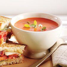 Sandwichs fondants aux tomates et au bacon Soup Recipes, Healthy Recipes, Healthy Food, Seitan, Wrap Sandwiches, Mets, Base Foods, Vegetable Recipes, Bacon