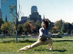 The Blind Ninja           - A very young Donnie Yen practicing #wushu on the...