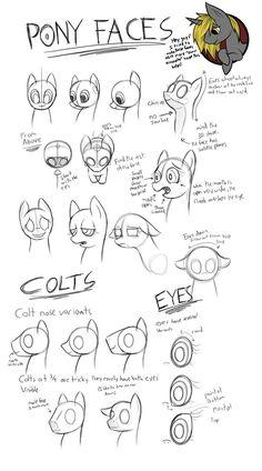 Pony Face Tutorial by CyberToaster.deviantart.com on @DeviantArt