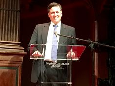 Sergio Troncoso at the Folger Shakespeare Library for the 2016 PEN/Faulkner Award for Fiction. Troncoso was one of three national judges for the award.