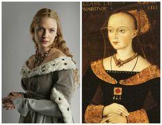 The White Queen Starz, Elizabeth Woodville, Queen Of England, Ruffle Blouse, Middle Ages, Tudor, Cousins, Outlander, Queens