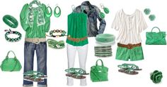 """""""GREEN with envy!"""" by sapple324 on Polyvore"""