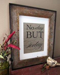 RENT NO Day But TODAY  burlap art print by PrettyMuchArt on Etsy