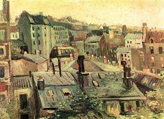 Vincent van Gogh, Overlooking the rooftops of Paris, 1886 on ArtStack #vincent-van-gogh #art