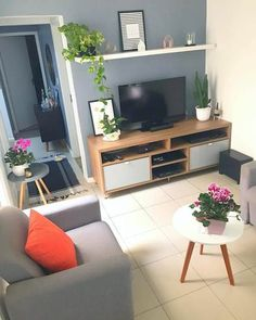 30 Affordable Apartment Living Room Design Ideas On A Budget aoneperfume 2019 … - Modern Living Room Grey, Small Living Rooms, Home Living Room, Apartment Living, Interior Design Living Room, Living Room Designs, Living Room Decor, Bedroom Decor, Deco Studio