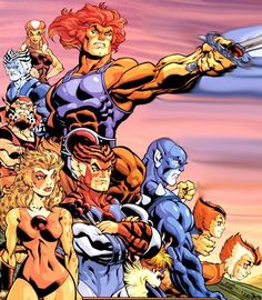 There was nothing on TV I loved more than Thundercats! I even remember eating a Thundercats sherbet that had a sword shaped foam sweet to dip in it instead of a lolly or liquorice! Old School Cartoons, Old Cartoons, Classic Cartoons, Gi Joe, Comic Books Art, Comic Art, Saturday Morning Cartoons, Cartoon Characters, Anime